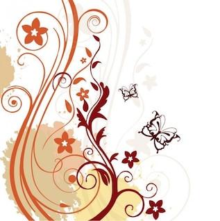 fondo floral abstracto