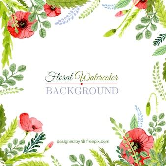 Fondo floral de acuarela
