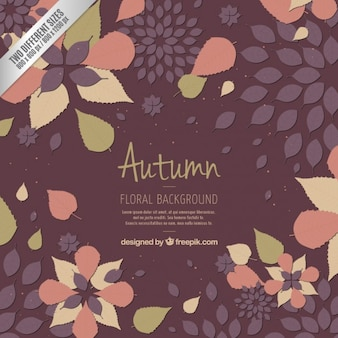 Fondo floral de otoño
