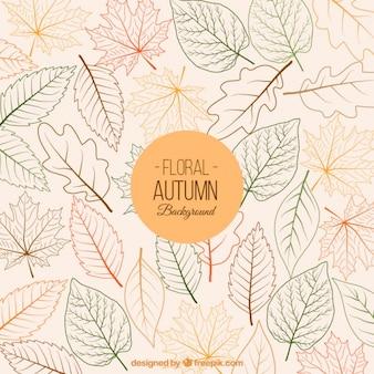 Fondo floral del otoño