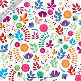Fondo floral en estilo colorido