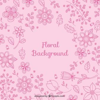 Fondo floral en tonos rosados