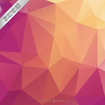 Fondo geométrico con colores cálidos