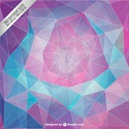 Fondo geométrico en estilo abstracto