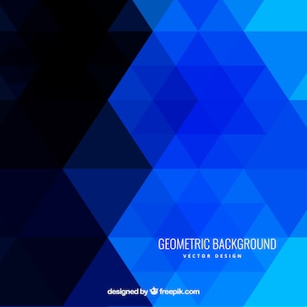 Fondo geométrico en tonos azules
