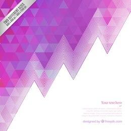 Fondo geométrico en tonos púrpura