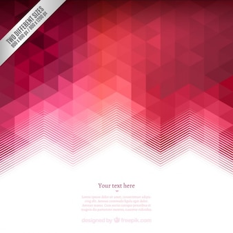 Fondo geométrico en tonos rojos