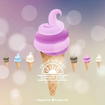 Fondo helado para el verano