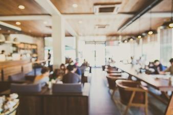 Fondo interior de la tienda de restaurante borrosa