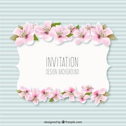 Fondo invitación con flores