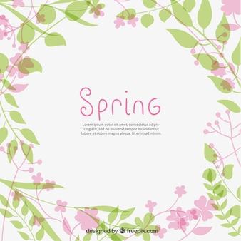 Fondo lindo de las plantas de primavera