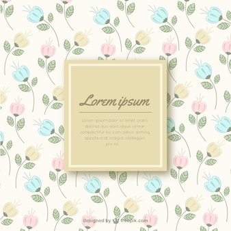 Fondo lindo floral