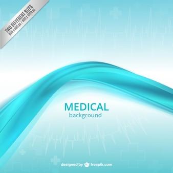 Fondo médico con onda azul