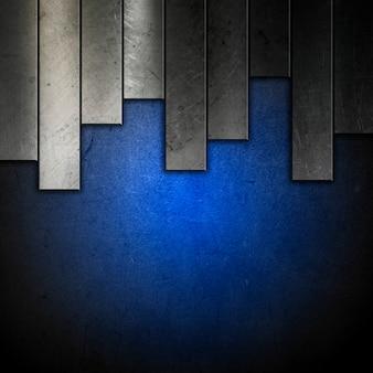 Fondo metálico abstracto con efecto azul grunge