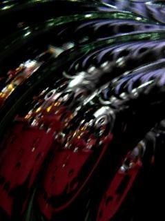 Fondo negro burbuja cósmica abstracta