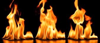 Fondo oscuro con líquido en llamas
