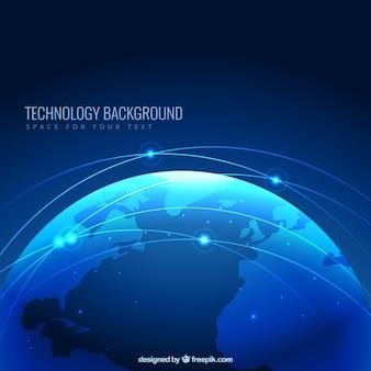 Fondo plantilla de tecnología