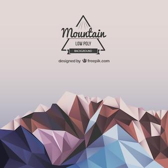 Fondo poligonal de montaña