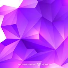 Fondo poligonal en tonos púrpura