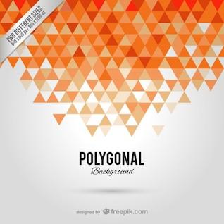Fondo poligonal naranja