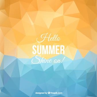 Fondo poligonal verano