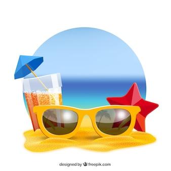 Fondo realista verano