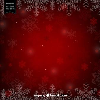 Fondo rojo de invierno
