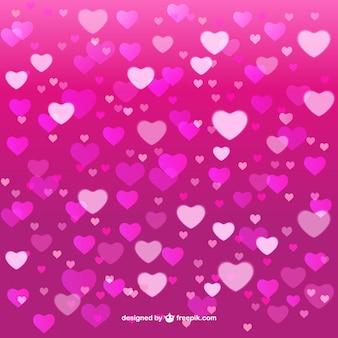 Fondo rosado de los corazones