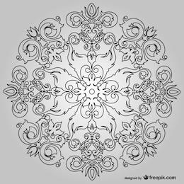 Fondo simétrico floral
