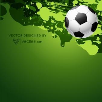 Fondo sucio verde con balón de fútbol
