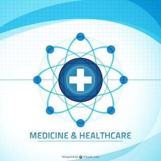 Fondo vectorial de atención médica