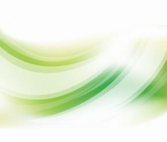 Fondo verde vectoriales curva