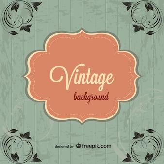 Fondo vintage con esquinas florales