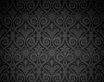 Fondo vintage modelo del damasco oscuro