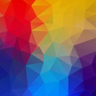 Formas geométricas de colores de fondo abstracto