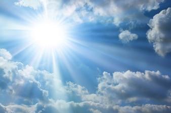 Foto aérea de la materia solar