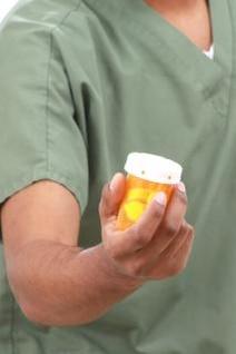 frascos de medicamentos