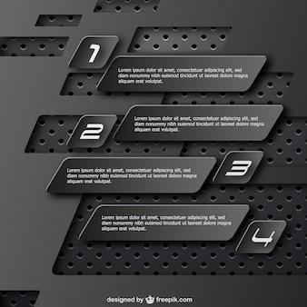 Plantilla de infografía negra