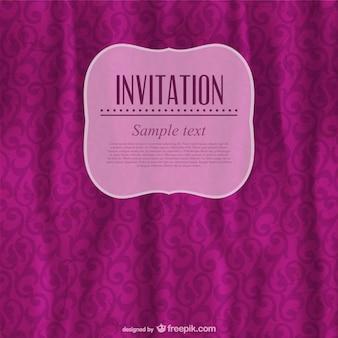 Plantilla de invitación vintage