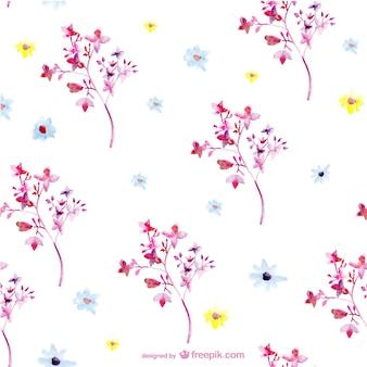 Patrón de flores en acuarela