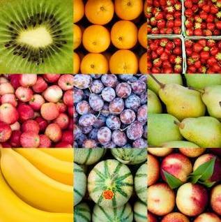 fruta collage