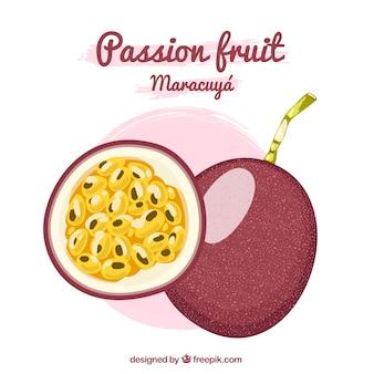 Fruta de la pasión maracuyá