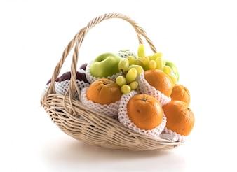 Frutas en una canasta