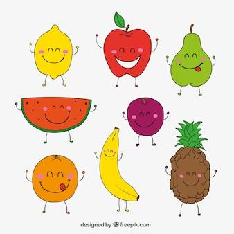 Frutas felices esbozadas