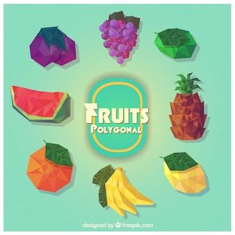 Frutas poligonales abstractas
