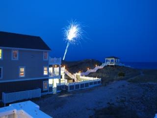 Fuegos artificiales, julio, el verano, la celebración, el cuarto