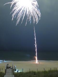 Fuegos artificiales, julio, fuegos artificiales, fiesta, cuarto