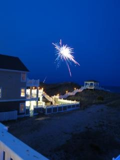 Fuegos artificiales de julio la celebración del verano