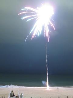 fuegos artificiales de la celebración cuarto julio