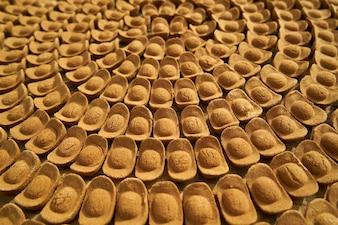 Galletas puestas en forma de círculos